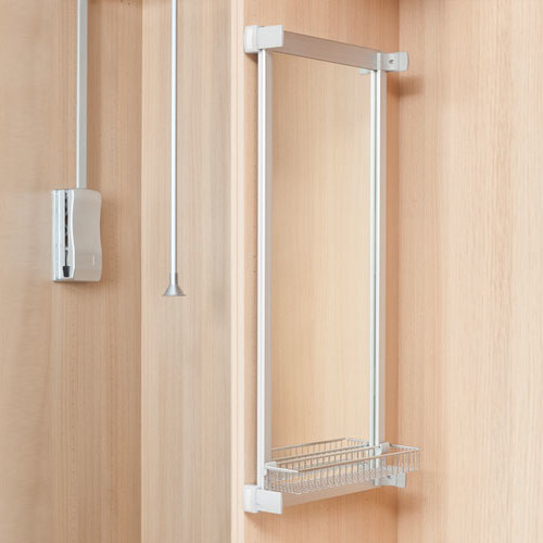 Lateral mirror for wardrobes