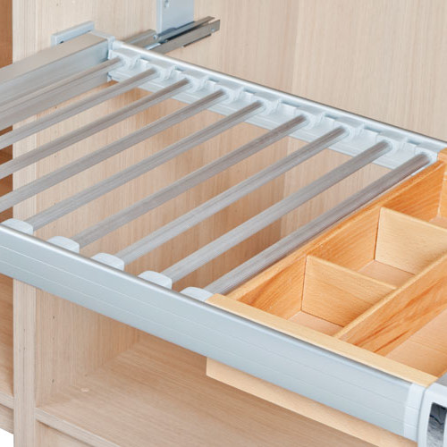 Trouser rack for wardrobes