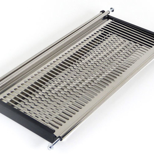 Stainless steel dish rack and adjustable lineros